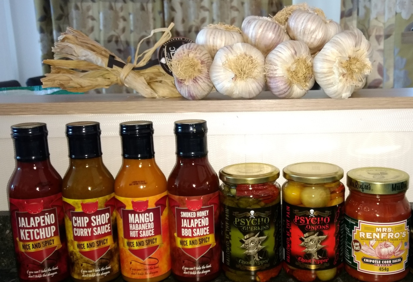 Garlic and chilli sauces