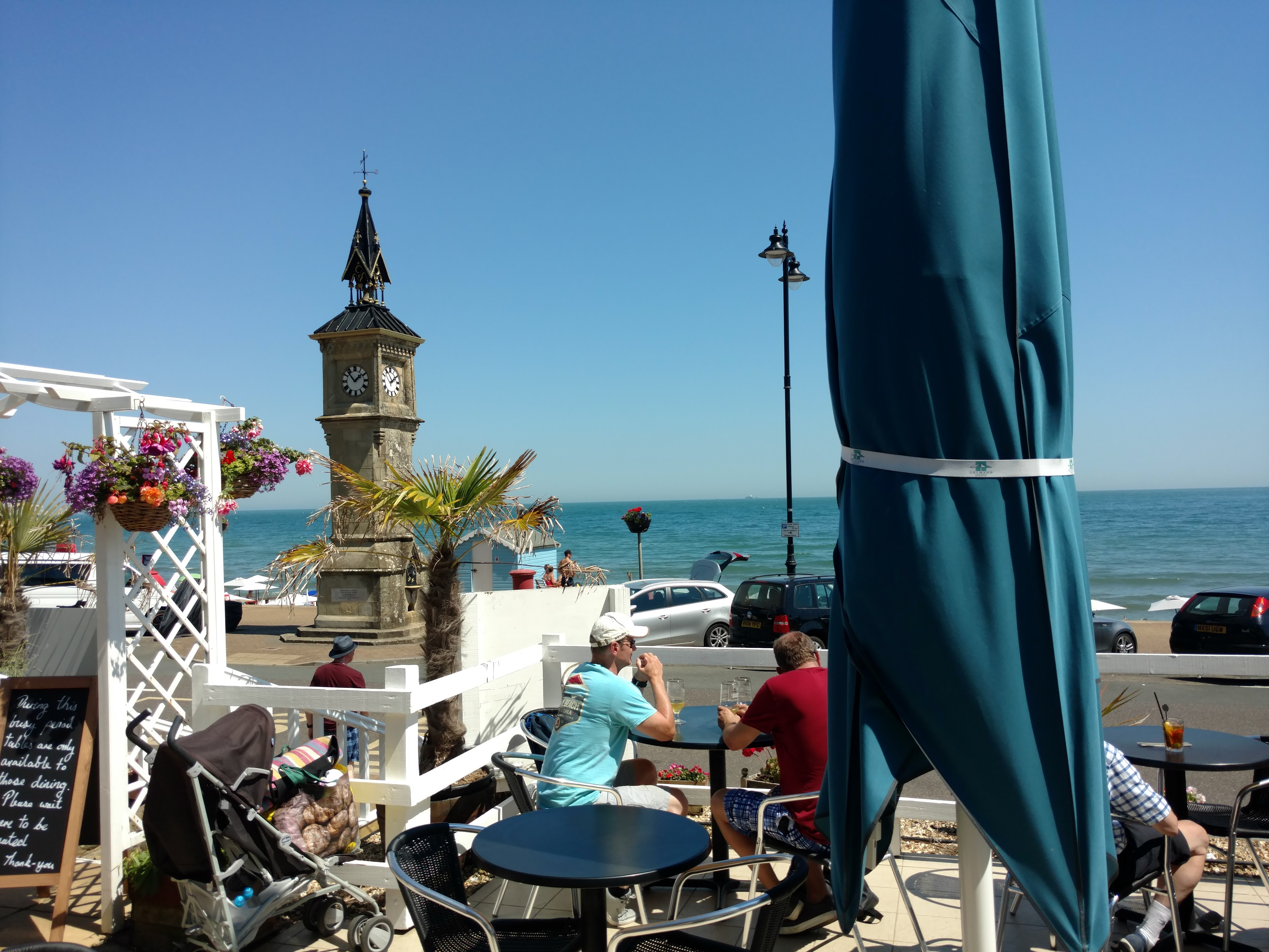 View from The Waterfront Inn, Shanklin, Isle of Wight