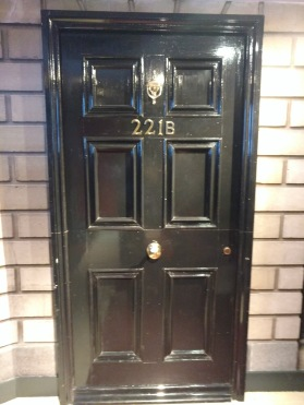 The door to 221B Baker Street, home to Sherlock Holmes