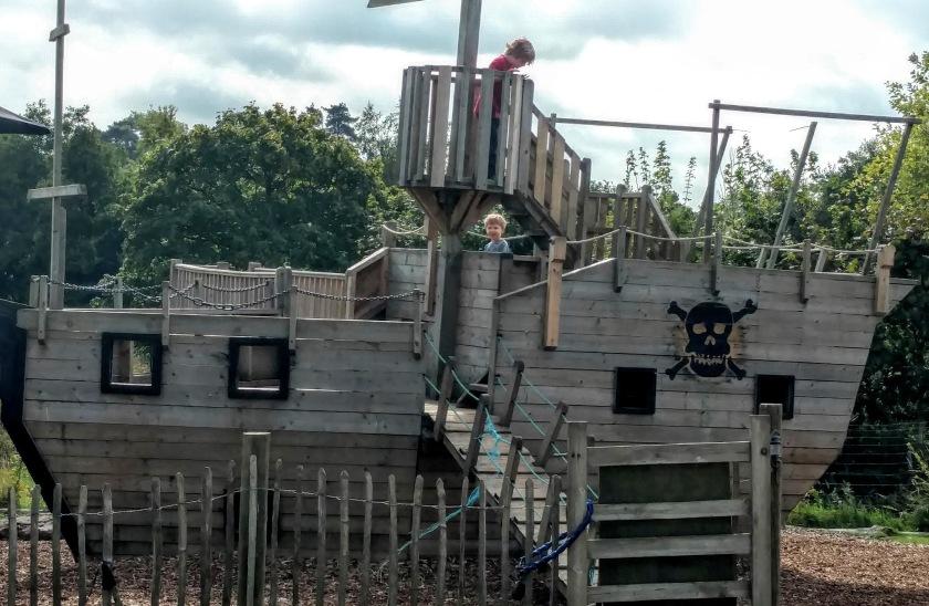 Pirate ship playground at Priory Farm