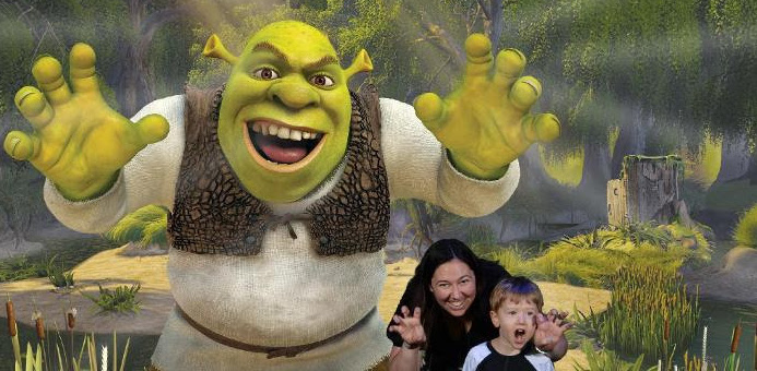Roaring with Shrek