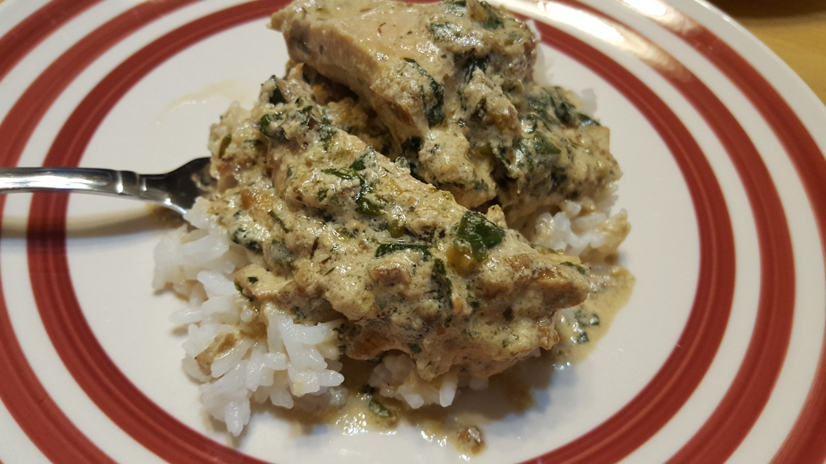 Tarragon Chicken with Mushroom and Spinach recipe