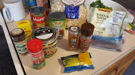 Veg curry ingredients