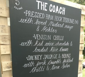 The Coach Pub in the Park menu