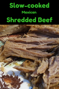 Slow-cooked Mexican shredded beef