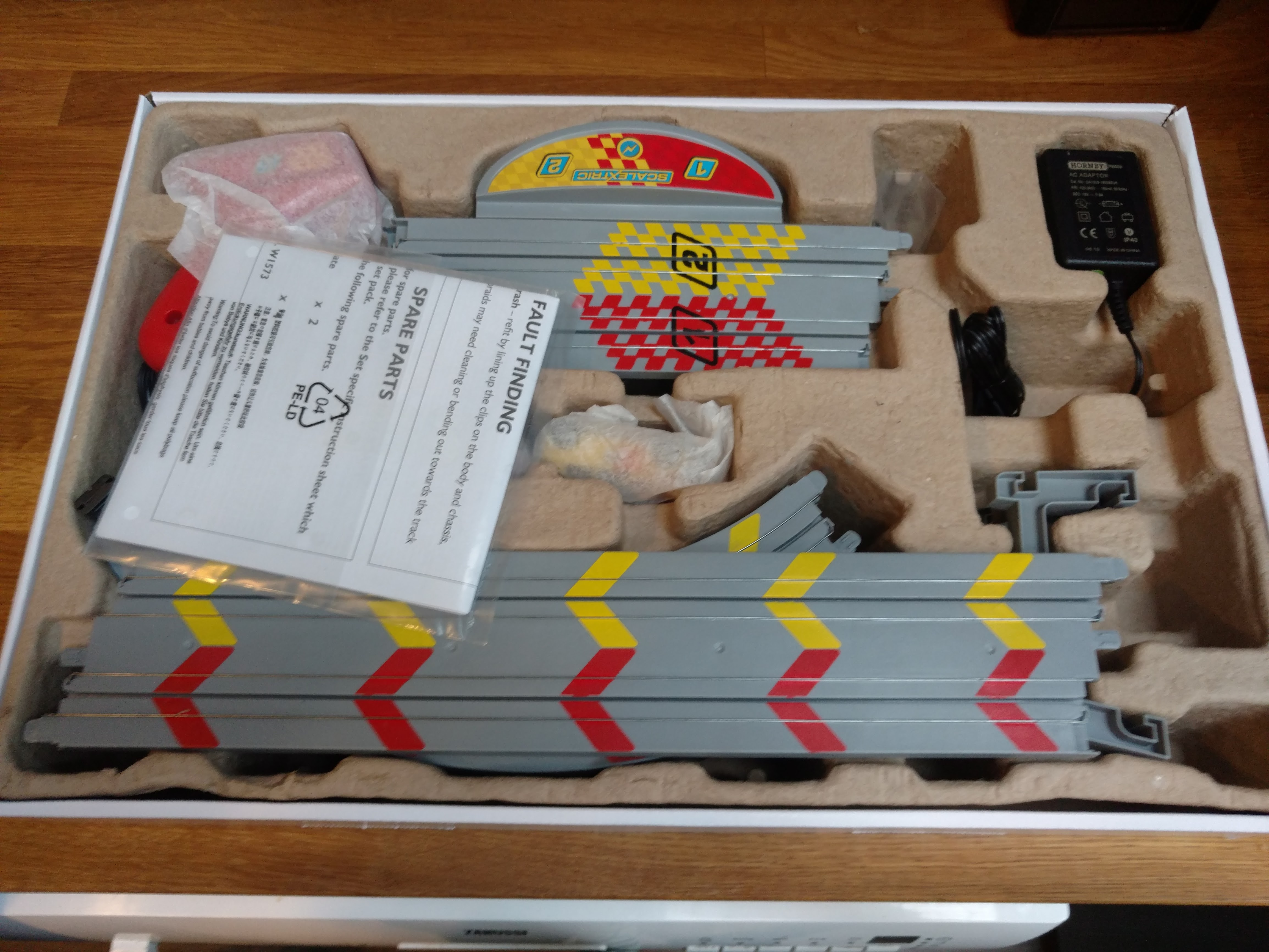 Open Scalextric box